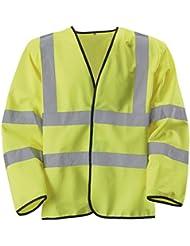 Baratec amarillo Hi Viz chaleco de alta visibilidad manga larga clase 3, EN471