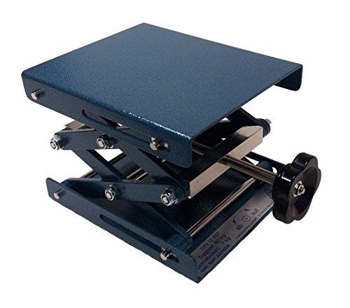 Neolab Electric 1707Lab Polishing Pad Lift, Light Powder Coated Hammered Metal Steel 160mm x 130mm