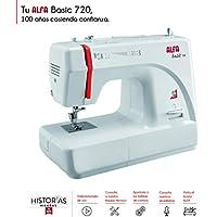 Alfa Basic 720 - Máquina de coser, 9 diseños de puntada, motor de 70
