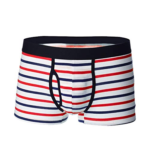 Setsail Herren Stripe Unterwäsche Soft Breathable Knickers Short Sexy Briefs Eng anliegende Unterhose -
