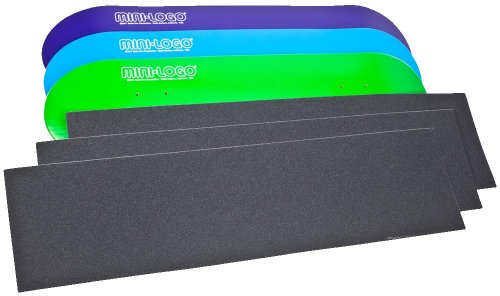 Mini logo3Skateboard Decks und 3Blatt gratis Griptape Bundle (sortiert), sortiert