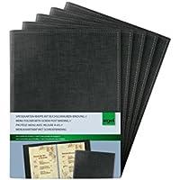 Sigel SM135/5 Speisekarten-Mappen mit Buchschrauben-Bindung für A5, 5-er Pack, schwarz