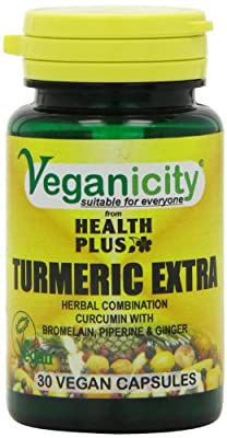 Veganicity Turmeric Extra Health and Well-Being Supplement - 30 Capsules from Health + Plus Ltd