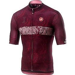 Castelli Sangiovese Jersey, Camiseta de Ciclismo para Hombre, Hombre, 9510203, Sangiovese, S