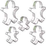 Ausstechform Lebkuchenmann Set von 5 Edelstahl Ausstechformen Formen für Kinder von kaishan
