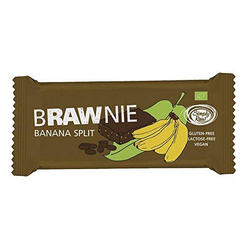 Bar Banane-nuss (Simply Raw Brawnie Banane und Kakao 45g (bio, roh, vegan) Frucht-Nuss-Riegel)