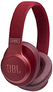 JBL Live 500BT Wireless Over-Ear Voice Enabled Headphones (Red)