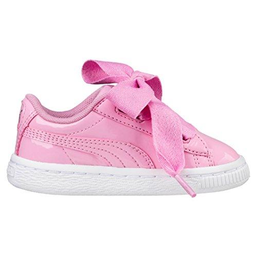 Puma Mädchen Basket Heart Patent PS Sneaker Prism PINK, 34 EU