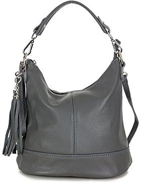 Kleine Handtasche Umhängetasche Echt Leder für Damen von Taschenloft (31 x 25 x 17 cm)