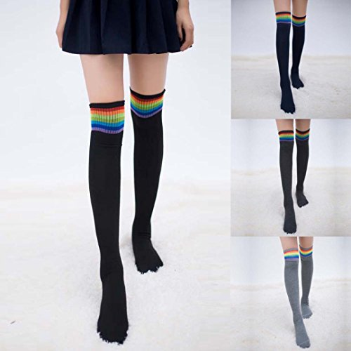 FALAIDUO Girls Winter Warm Cable Boot Long Socks Over Knee Thigh High Stockings