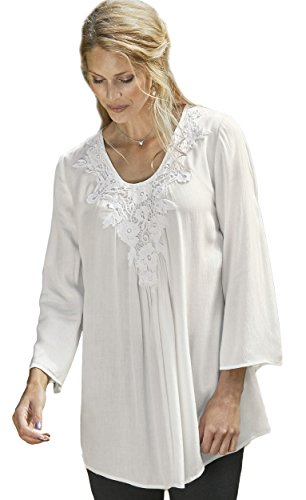 TopsandDresses Camisas - Para Mujer Marfil Blanco Crema 48