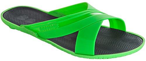 Boombuz 100% nature biodigradable biologisch abbaubar Yumo swimsuit 111-2-001 bis 111-2-004, Herren Dusch Badeschuhe Grün/Green