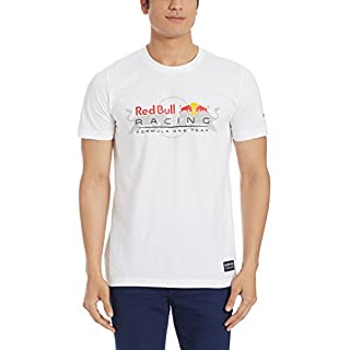Puma RBR Red Bull Racing Logo Motorsport F1 Men's Tee Shirt (Medium, White)