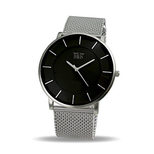 davis-0910mb-montre-design-homme-femme-cadran-noir-extra-plate-bracelet-mesh-maille-milanaise