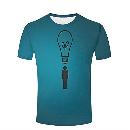 LizzieYun Men Women Graphic 3D Idea Light Creative Funny Print Fashion Casual T-Shirts XS