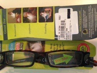 Light Specs By Foster Grant 2.00 Tortoise Lighted Reading Glasses by LightSpecs
