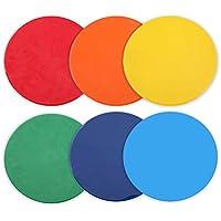VORCOOL 6 unids Marcadores de Punto de Colores marcadores de Punto Plano de fútbol para taladros Escuela de Entrenamiento Deportivo Indicador de Progreso de enseñanza