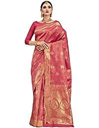 Saree Mall Women's Silk Saree With Blouse Piece (Kumd35012_Pink)