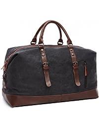ZYSY Large Women Weekender Borsa Canvas Borsone da viaggio Carry On Duffel  Bags Overnight Weekend Satchel Totes Borsa Borse da… ddbf35aea09