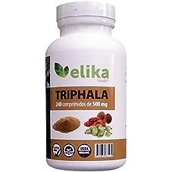 Triphala Bio- 240 Tabletten (ohne Kapseln) 500 mg Pulver/ Reinigung von Organen, Verdauungssystem, Darm und Blut.