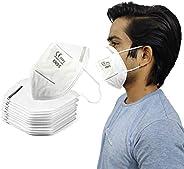 KITTYBEES Non-Woven with Meltblown Layer Unisex Anti Pollution KN95/FFP2 Disposable Mask - White, Free Size, P