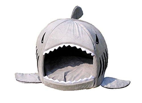 Hai-ningteng Bett für Hund Kleiner Hund Abnehmbarer gepolsterter Höhle mit Fonds Wasserdicht (Hund Kleiner Kostüm Hai)