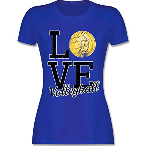 Shirtracer Volleyball - Love Volleyball - L - Royalblau - L191 - Damen T-Shirt Rundhals (Love Volleyball T-shirt)
