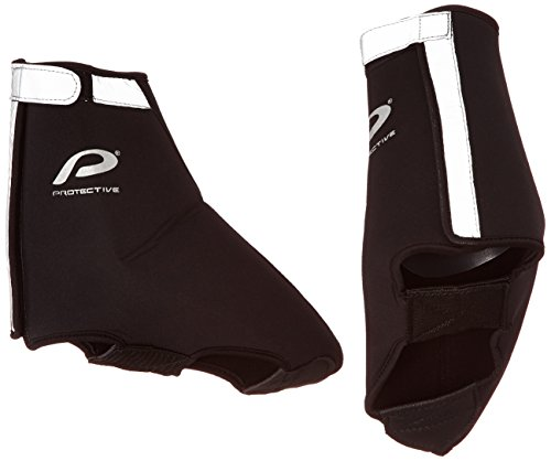 Protective All-weather Road Bootie - Botín de ciclismo unisex, color negro, talla 37-39