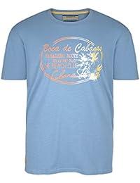 Camiseta gris Redfield con estampado en talla grande