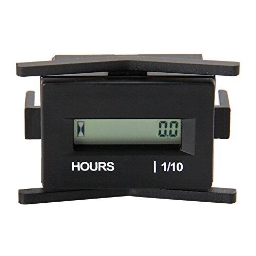 Runleader Digital LCD Stundenzähler, DC 4,5 V bis 60 V, wasserdichtes Design, Verwendung für ZTR Rasenmäher Traktor Generator Golfwagen Club Auto Scrubber Marine ATV Motor Kompressor und andere