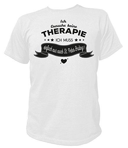 Artdiktat Herren T-Shirt Ich brauche keine Therapie - Ich muss einfach nur in den Spreewald Weiß