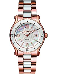 Roamer Women's AEU980 4923 PE Quartz Watch with Mother Of Pearl Dial Analogue Display and Stainless Steel Bracelet