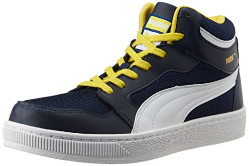Puma Men's Rebound Mid Lite DP Peacoat, Dandelion and White Sneakers – 8 UK/India (42 EU) 41S3 XiX 2B9L