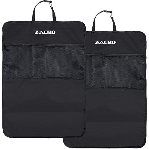 Zacro Rückenlehnenschutz Auto 2 Stück mit eine Ersatz Handtuch Rückenlehnen Tasche Rückenlehnen Tasche Autositz Schoner Wasserdicht 56.5 x 44cm