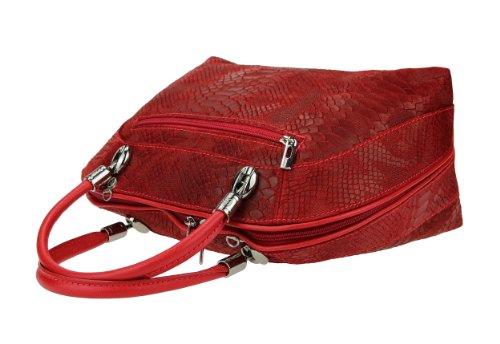 Made in Italy , Sac pour femme à porter à l'épaule rouge 30x27x14 cm (BxHxT) rouge