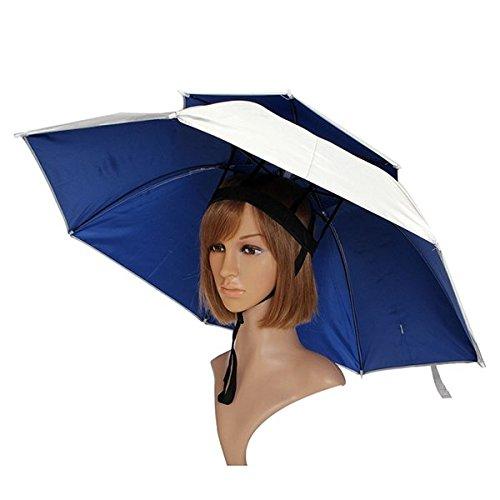 Bazaar Windproof sun rain à double pêche parapluie chapeau ombre en plein air de camping chapellerie