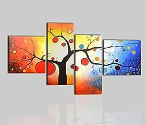 i colori del caribe quadri moderni astratti dipinti a mano