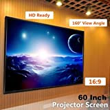 """SLB Works Brand New Portable 60"""" Inch 16:9 Fabric Matte Projector Projection Screen Home Theater NEW"""