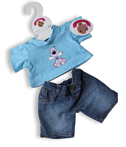 og Denim Outfit fits Build a Bear Factory Teddies by Build your Bears Wardrobe (Teddy Bear Dog Outfit)