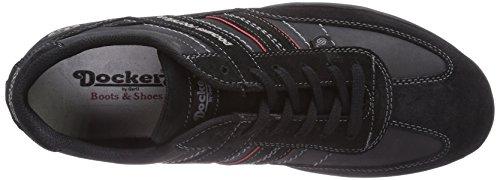Dockers by Gerli 36HT001-204100, Sneakers basses homme Noir (Schwarz)
