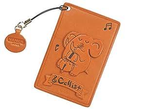 Éléphant en cuir pour violoncelle avec animal Pass/carte d'identité/carte de crédit/support/étui/* * * * * * * * VANCA * * * * * * * * fait à la main au Japon