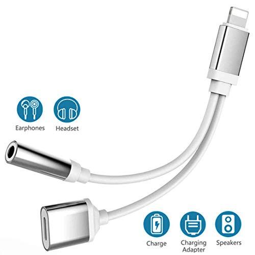 Kopfhörer-Dongle für iPhone X-Adapter für iPhone 8/8 Plus für iPhone 7 und 3,5-mm-Klinkenadapter für iPhone XS/XR Kopfhörer AUX Audio-Splitter-Zubehör Anschlusskabel Musikunterstützung für iOS 12