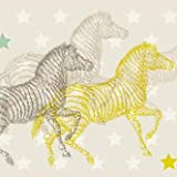anna wand Bordüre selbstklebend AFRICAN ANIMALS - Wandbordüre Kinderzimmer/Babyzimmer mit Afrika-Tieren - Wandtattoo Schlafzimmer Mädchen & Junge, Wanddeko Baby/Kinder