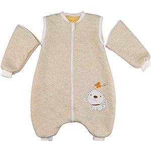Happy Cherry - Mono Saco de Dormir para Bebés Niños Niñas con Manga Larga Desmontable Mameluco Pijama Ropa de Dormir… 6