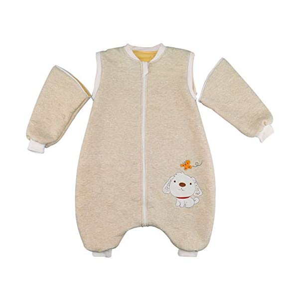 Happy Cherry – Mono Saco de Dormir para Bebés Niños Niñas con Manga Larga Desmontable Mameluco Pijama Ropa de Dormir…