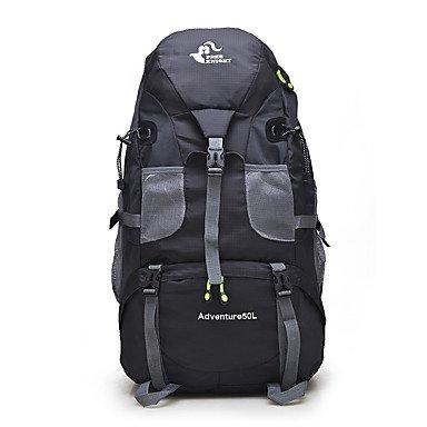 50 L Rucksack Klettern Freizeit Sport Camping & Wandern Regendicht Staubdicht Atmungsaktiv Multifunktions Orange
