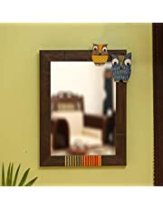 ExclusiveLane 'Owl & Owlet' Decorative Wall Mounted Mirror for Living Room & Dressing - Decorative Looking Mirror for Wall Mirror for Bedroom Wash Basin Bathroom Wall Makeup Mirror