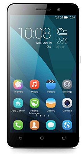 Honor 4X Smartphone, 4G LTE, Dual MICRO-SIM, Display 5,5 Pollici HD, Fotocamera 13 MP, Memoria 8 GB, Android 4.4, Bianco