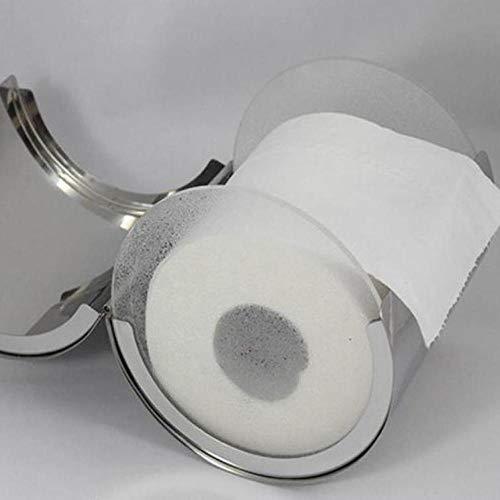 Niya Soft WC-Toilettenpapierhalter aus massivem Edelstahl, Nickel gebürstet. Toilettenpapierhalter -