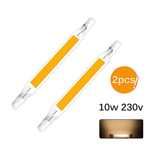 Konesky R7S LED ampoule 118mm 10W linéaire halogène ampoule 2 PCS LED COB R7S ampoules ampoules de projecteur double fin J118 projecteur pour jardin paysage de garage